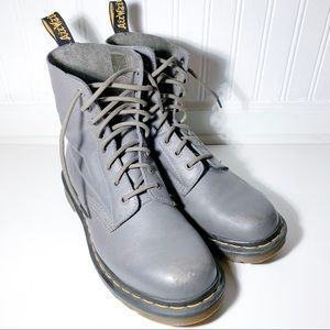 Dr. Martens Grey Lace Up Boot